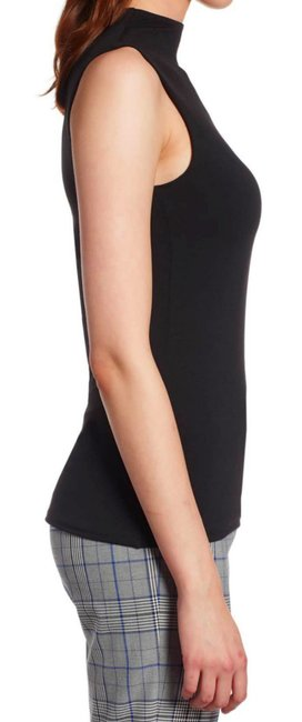 Halogen Funnel Neck Sleeveless Sleek + Smooth Layer Or Not Dress Up Or Down Top Black Image 2