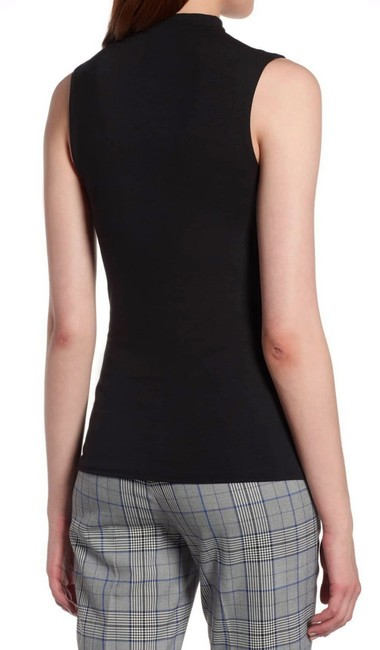 Halogen Funnel Neck Sleeveless Sleek + Smooth Layer Or Not Dress Up Or Down Top Black Image 3