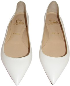 1879b5e7e7b5 Christian Louboutin Red Sole With Box White Flats. Christian Louboutin  White Latte New Ballalla Leather Pointed Toe Ballet Flats Size ...