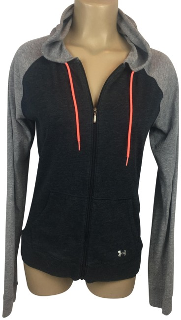 Item - Gray & Black Hoodie Activewear Outerwear Size 10 (M)