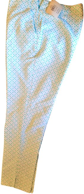 Item - White and Turquoise Marseille Activewear Bottoms Size 10 (M, 31)