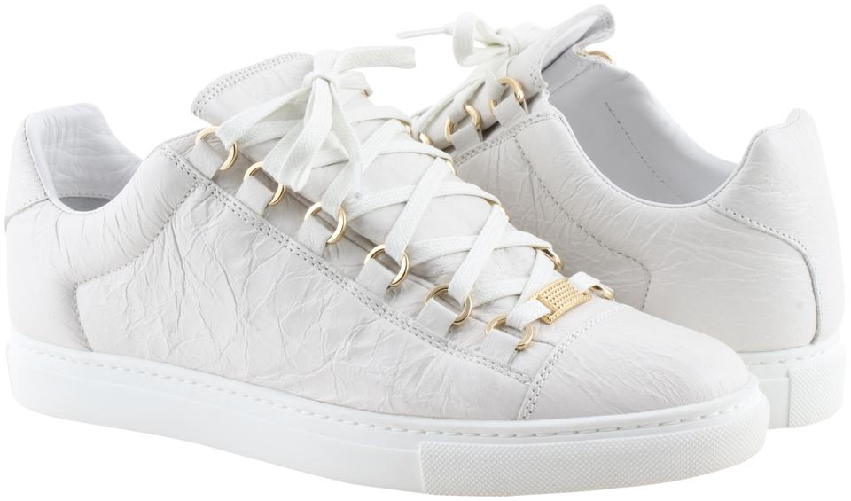 725650389632 Balenciaga White Arena Leather Low-top Sneakers Sneakers Size US 9 ...