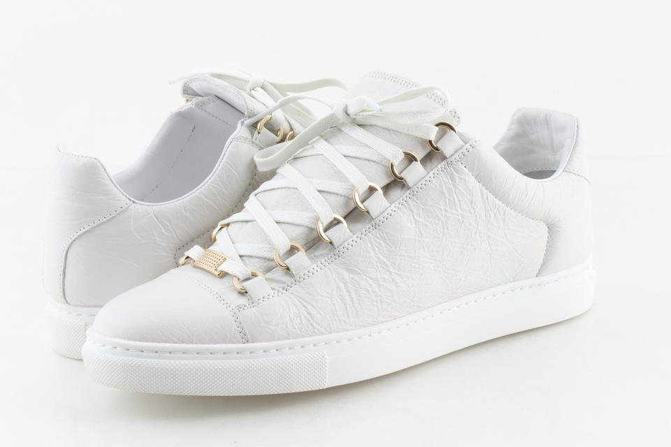 96ce5ea91c9f Balenciaga White Arena Leather Low-top Sneakers Sneakers Size US 9 Regular  (M
