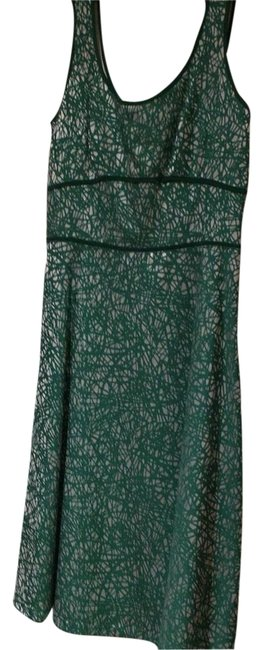 Item - Green and A Silvery Color Mid-length Short Casual Dress Size 2 (XS)