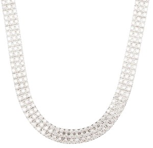 Chopard Chopard Three Row Ice Cube Diamonds and White Gold Necklace, Earrings