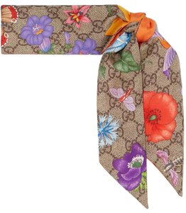 Gucci Brand New - GG Silk Neck Bow with Flora Print