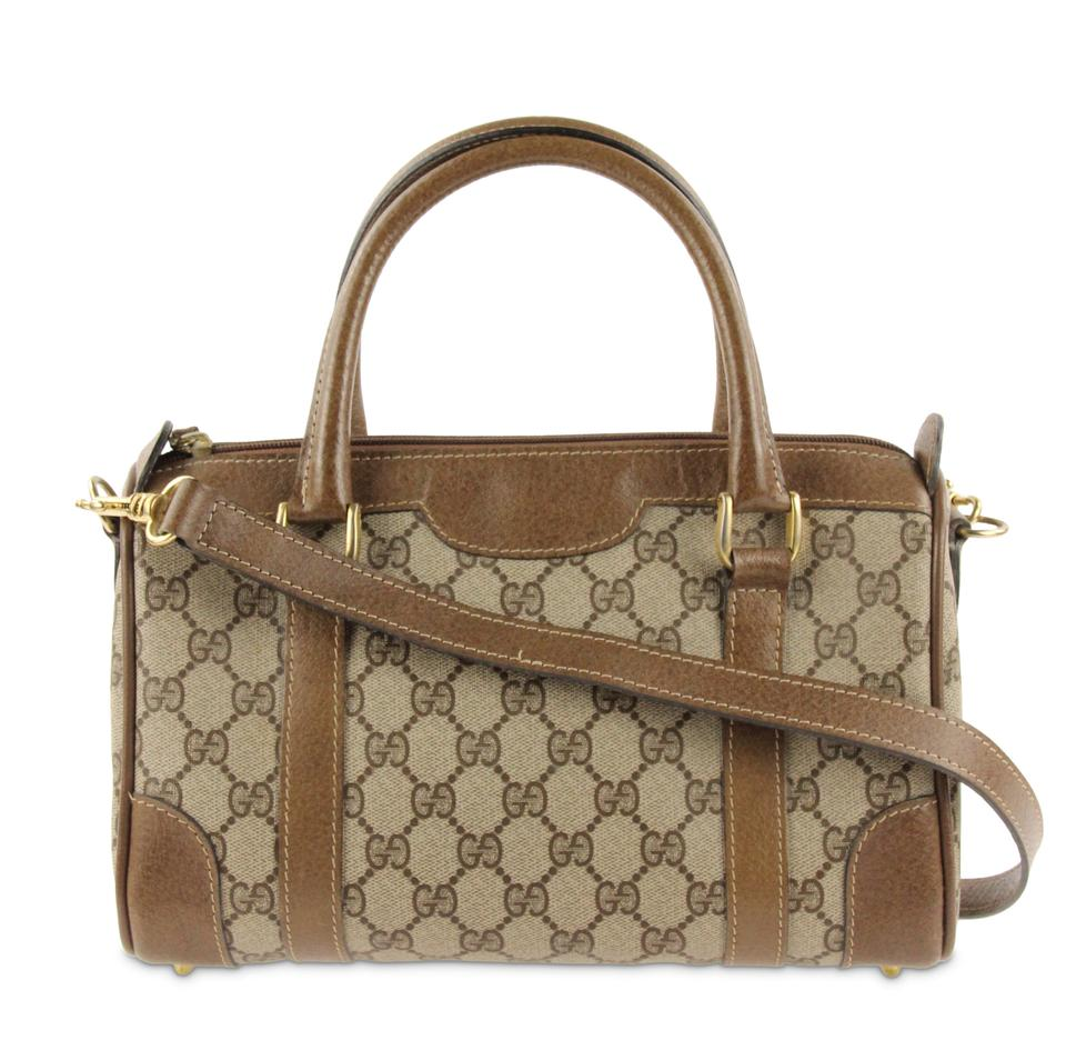 2e7c38aa3bd3 Gucci No Exposed Pipping Crossbody Strap Near Mint Condition Unique Gg  Satchel in Brown Image 0 ...