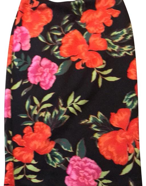 Item - Multicolor Floral Print Pencil Skirt Size 6 (S, 28)