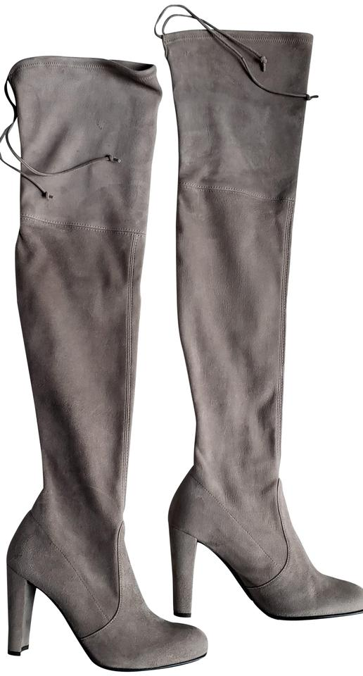 b0f48849c8a Stuart Weitzman Over The Knee Designer Taupe Suede Topo Boots Image 0 ...