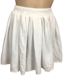 Brandy Melville Mini Skirt White