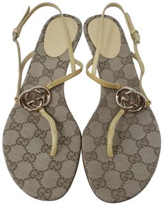 63008401a01 Gucci Gg Silver Hardware Guccissima Gold Hardware Heart Beige Sandals