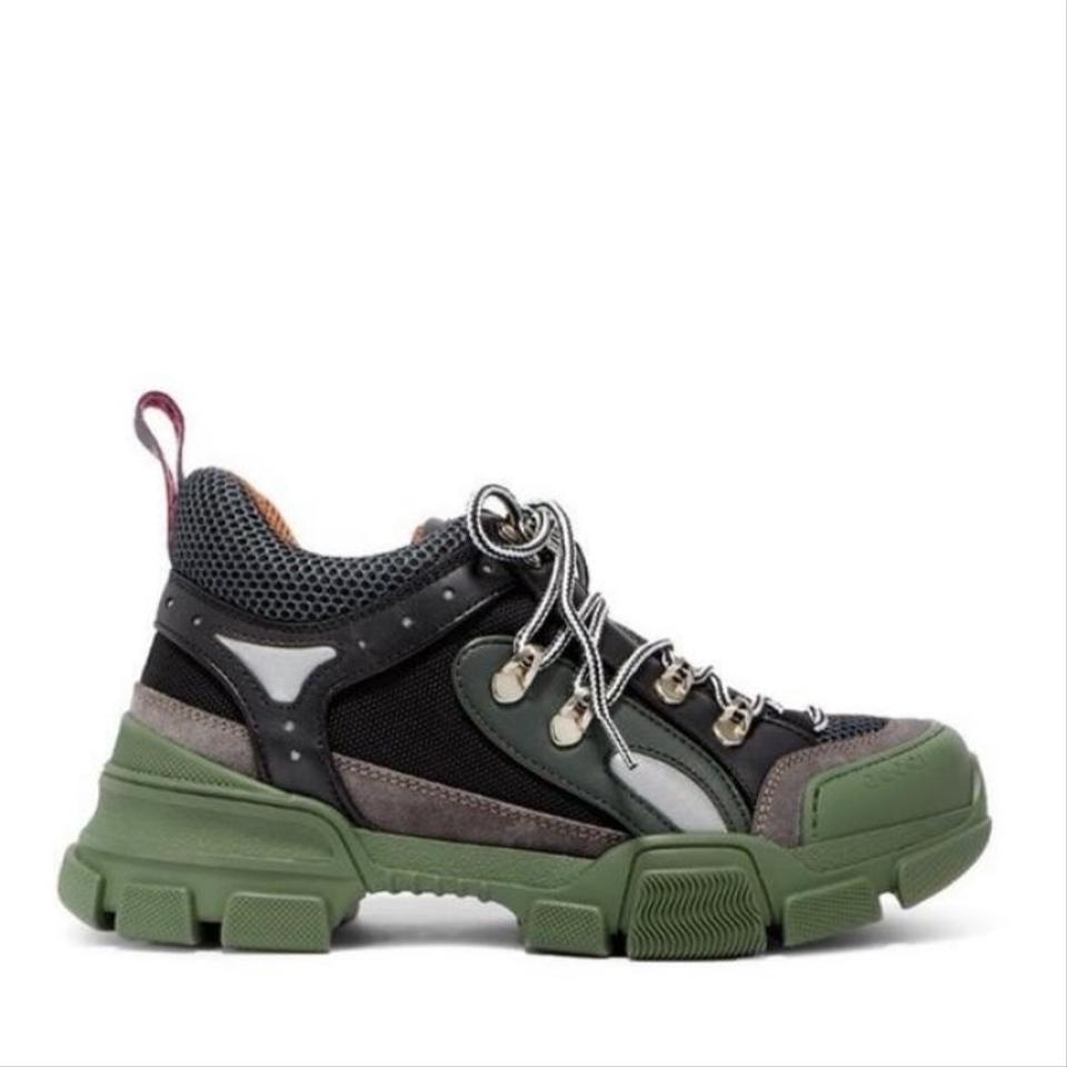 1690c044dad Gucci Flashtrek Crystal Embellished Leather Sneakers Sneakers Size ...