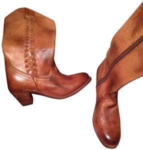 Bed|Stü Leather Cowboy Tan Boots