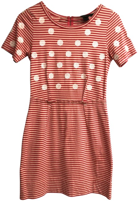 Marc by Marc Jacobs short dress Red/Tan Stripes Sequence Dots Preppy on Tradesy Image 1