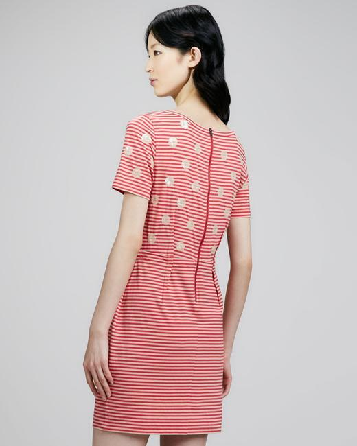 Marc by Marc Jacobs short dress Red/Tan Stripes Sequence Dots Preppy on Tradesy Image 5