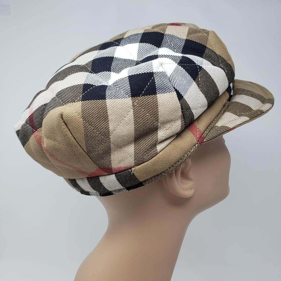 9b2562c4 Burberry Brown Beige Multicolor Quilted London Nova Check Newsboy ...