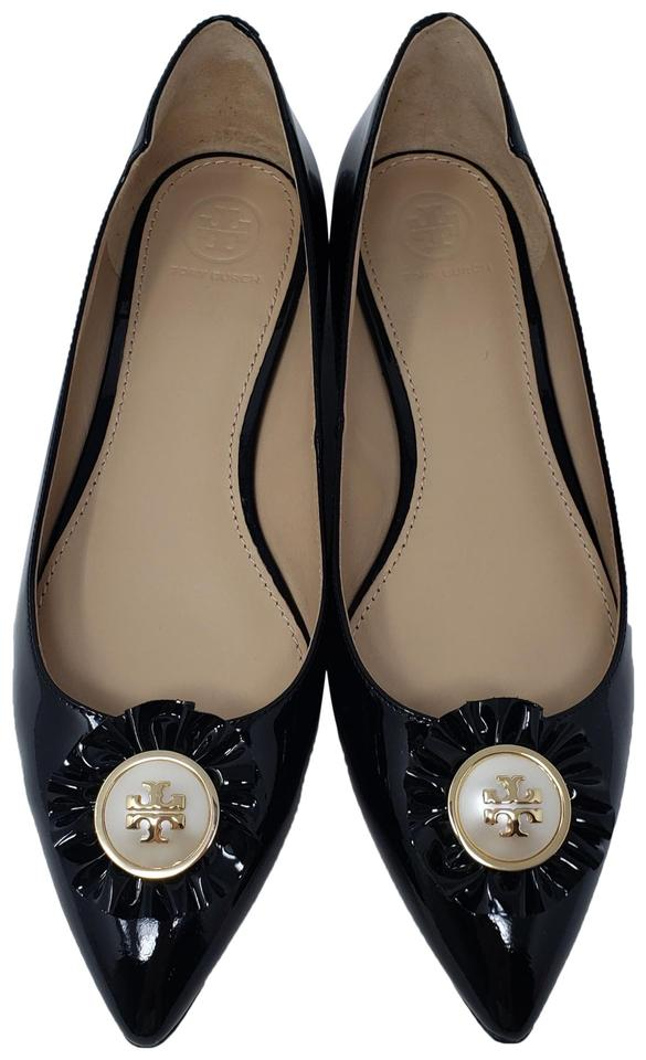 73919b94b Tory Burch Black Patent Leather Melody Pointed-toe Flats. Size  US 8 Regular  (M ...