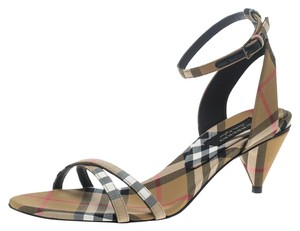 Burberry Open Toe Crisscross Strap Beige Sandals