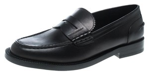 Burberry Leather Loafer Black Flats