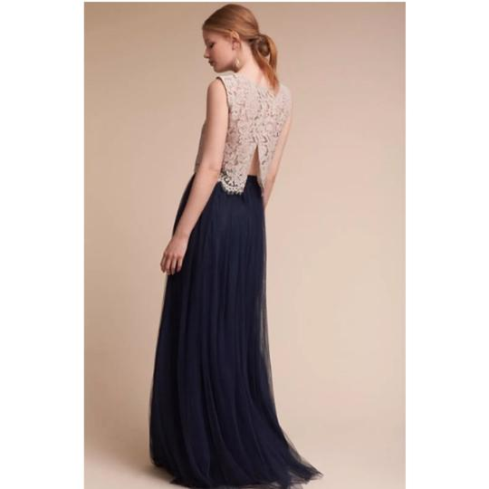 Jenny Yoo Navy Polyester Tulle Louise Till Full Skirt Formal Bridesmaid/Mob Dress Size 12 (L)