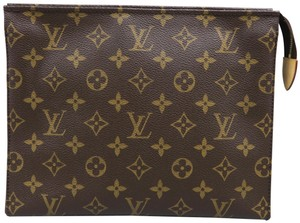 Louis Vuitton Louis Vuitton Brown Toiletry Pouch Monogram Canvas Cosmetic Bag