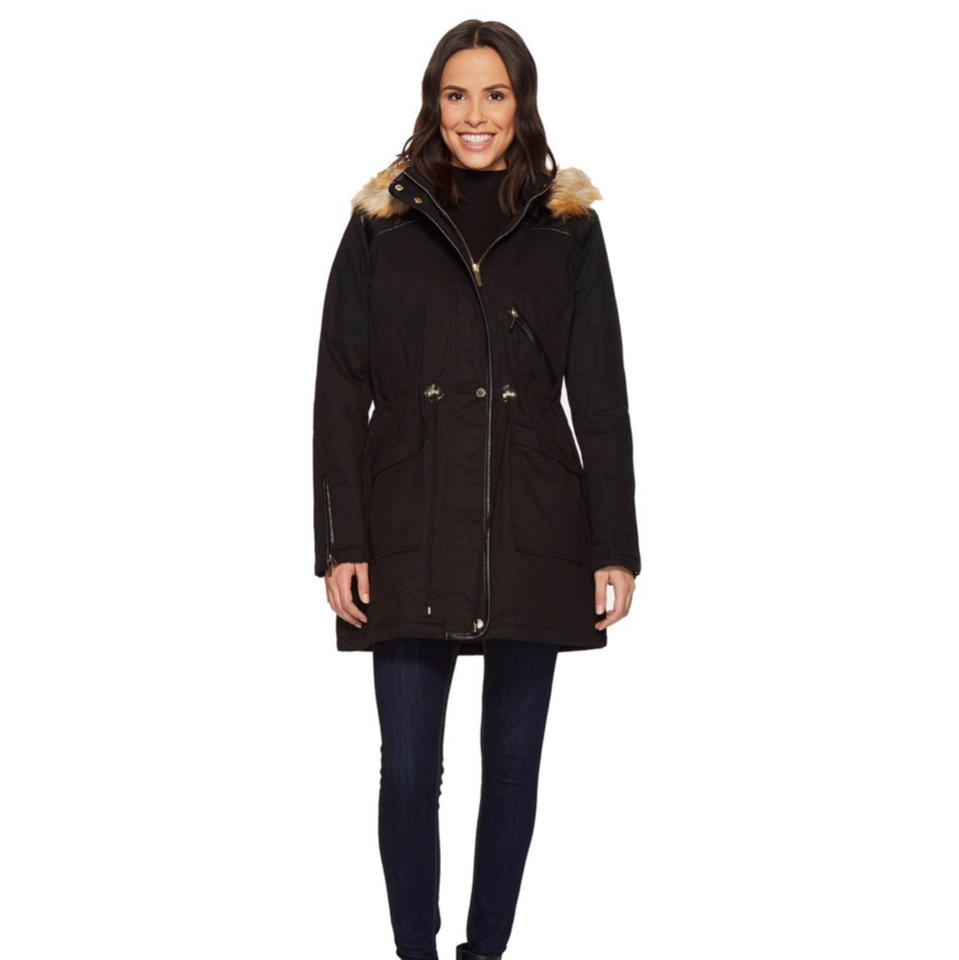 428292637cb French Connection Black *new* Winter Parka Coat Size 16 (XL, Plus 0x ...