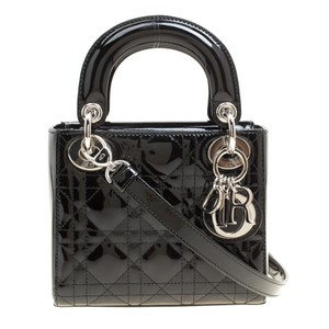 Dior Patent Leather Leather Mini Shoulder Bag