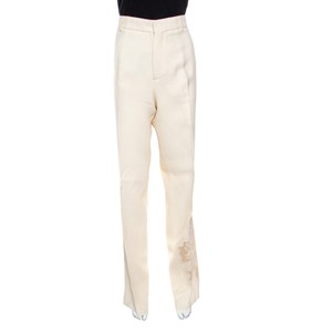 Rochas Floral Embroidered Detail Trouser/Wide Leg Jeans