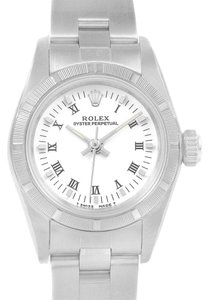 Rolex Rolex Oyster Perpetual White Dial Oyster Bracelet Ladies Watch 67230
