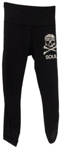 Lululemon Lululemon SoulCycle Skull Logo 3/4 Length Leggings In Black Size 6