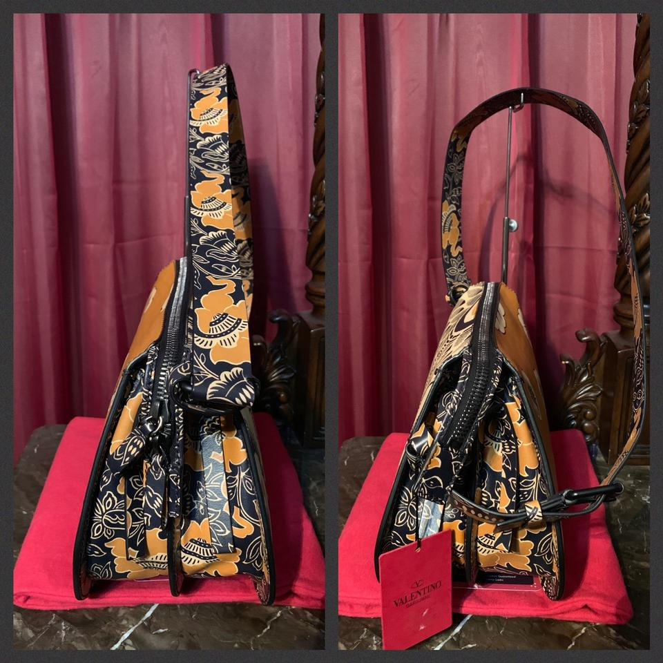 216680553d Valentino Flower Runway 2015 Printed. Floral Leather Hobo Bag - Tradesy