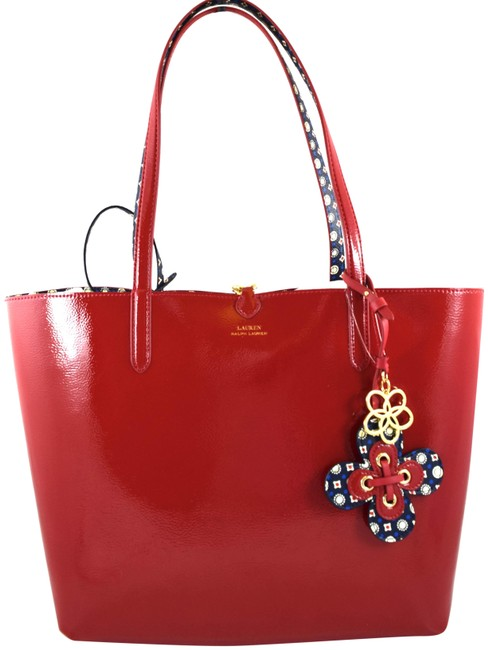Item - Merrimack Reversible Red Faux Leather Tote