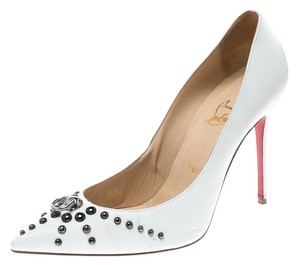 Christian Louboutin Print Satin Multicolor Pumps