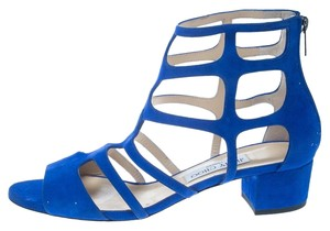 Jimmy Choo Suede Heel Blue Sandals