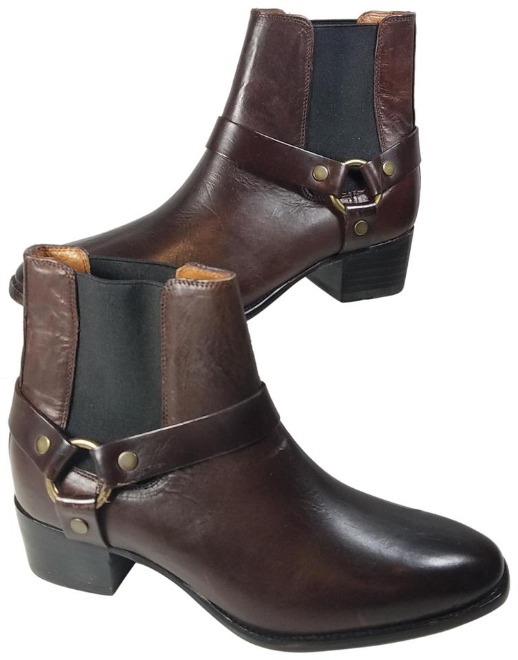 c94ebfe60de Frye Brown Dara Harness Chelsea Whiskey Leather Boots/Booties Size US 6.5  Regular (M, B)