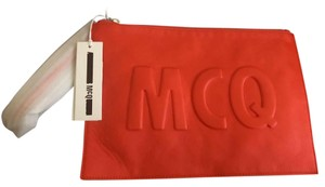 MCQ by Alexander McQueen Red coral Clutch