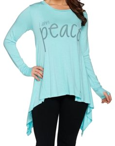 Peace Love World T Shirt Angel Blue