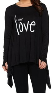 Peace Love World T Shirt Black