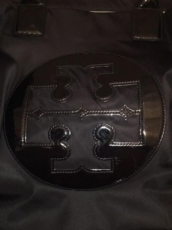 87bfe220edbb Tory Burch Ella Style Number 52740 Nylon Magnetic Snap Closure 2 Gusset  Snaps Patent Leather Handles with 7