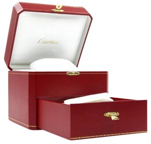 Cartier Red Watch & Jewelry Storage Box with Drawer Compartments