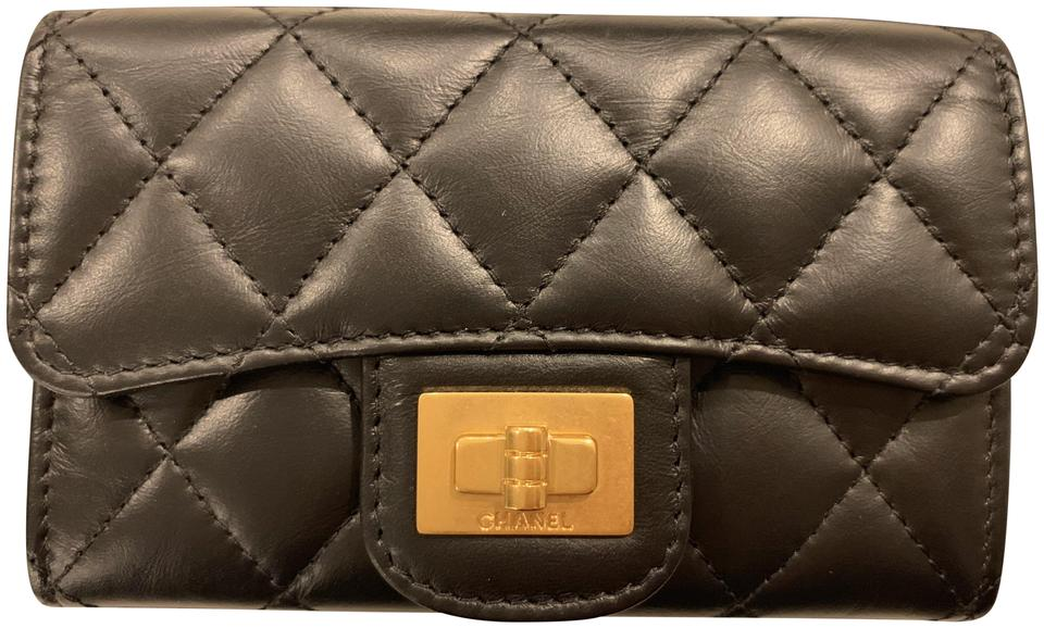 9de363e9d4fe Chanel Reissue Quilted Flap Credit Card Holder w/Gold Hardware Image 0 ...