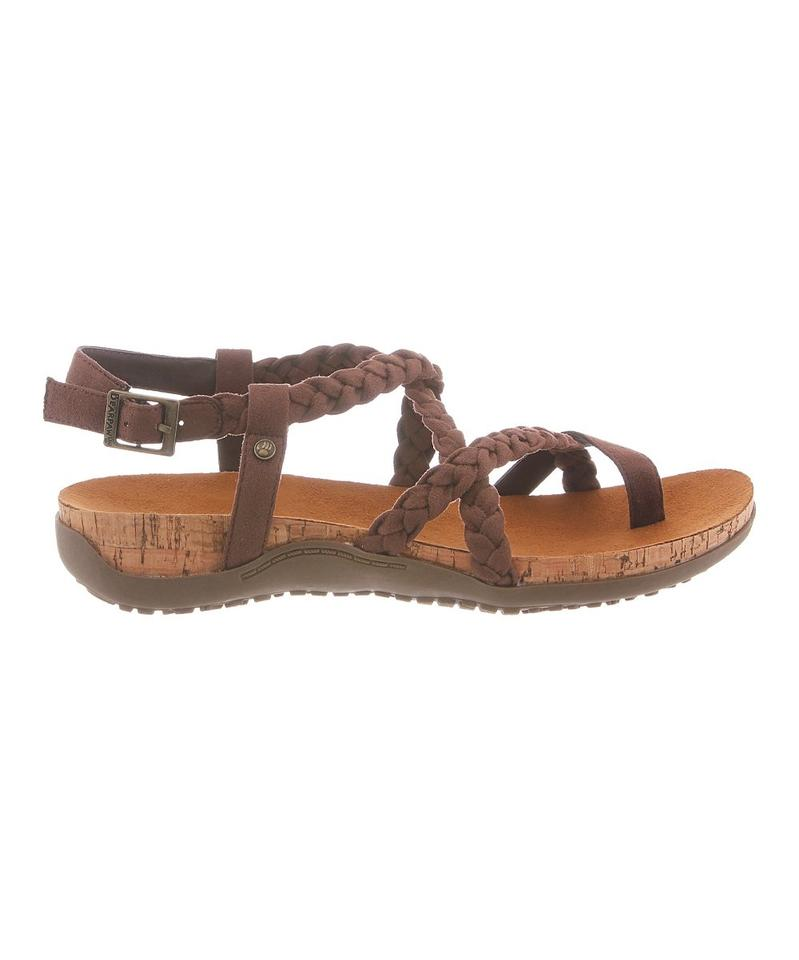 e8a78680bf57 Bearpaw Brown Cecilia Bark Toe Loop (New) Sandals Size US 10 Regular ...