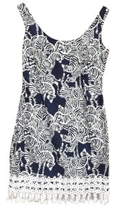 Lilly Pulitzer short dress Navy Zebra on Tradesy