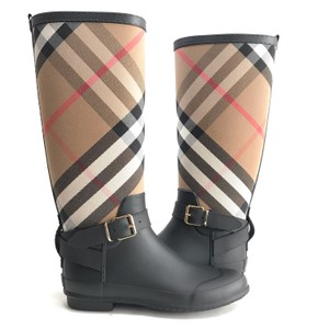 Burberry Black Check Boots
