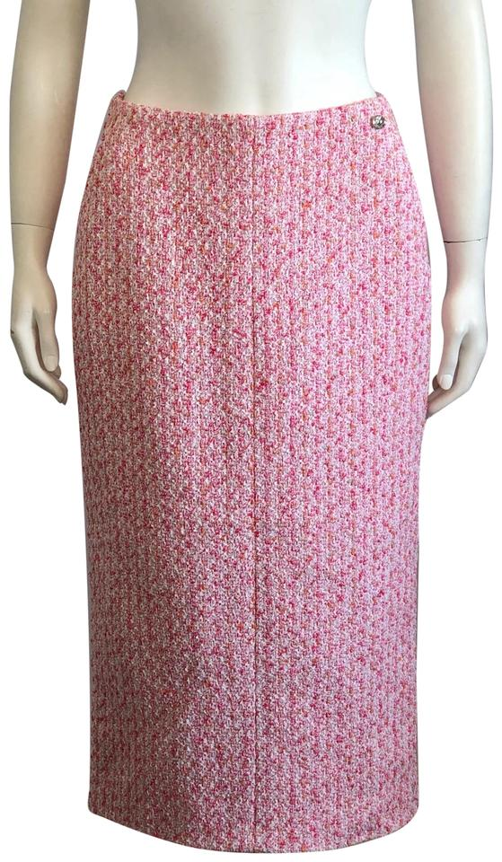27ede9108c Chanel Pink Tweed Boucle Skirt Size 4 (S, 27) - Tradesy
