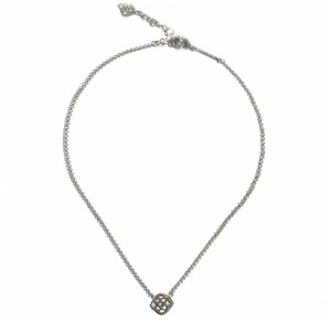 Kendra Scott Brand New Kendra Scott Decklyn Signature Logo Pendant Necklace SILVER