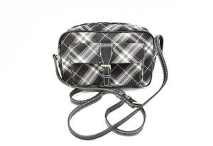 Burberry London Nova Check Leather Logo Cross Body Bag