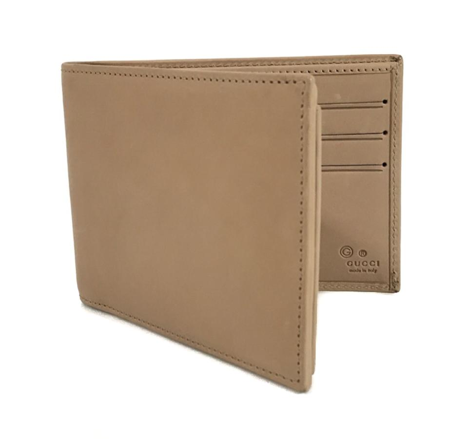 f2519623c6 Gucci Brown Men's Porridge Washed Softcalf Leather Bifold Wallet ...