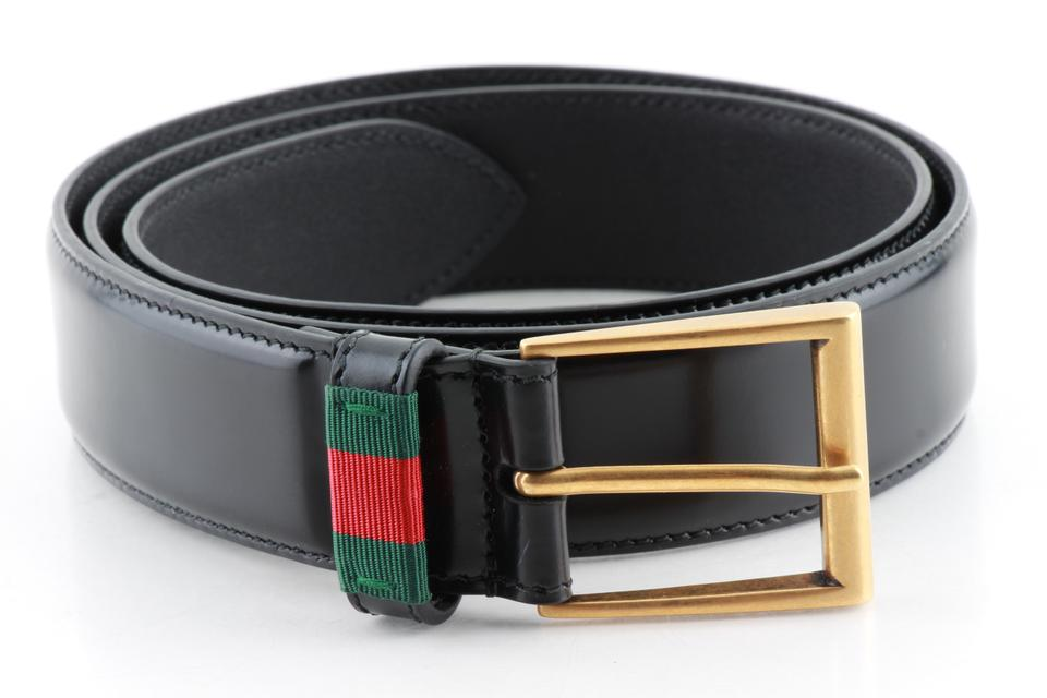 093bd60249b Gucci Gucci Leather Belt with Web Image 0 ...