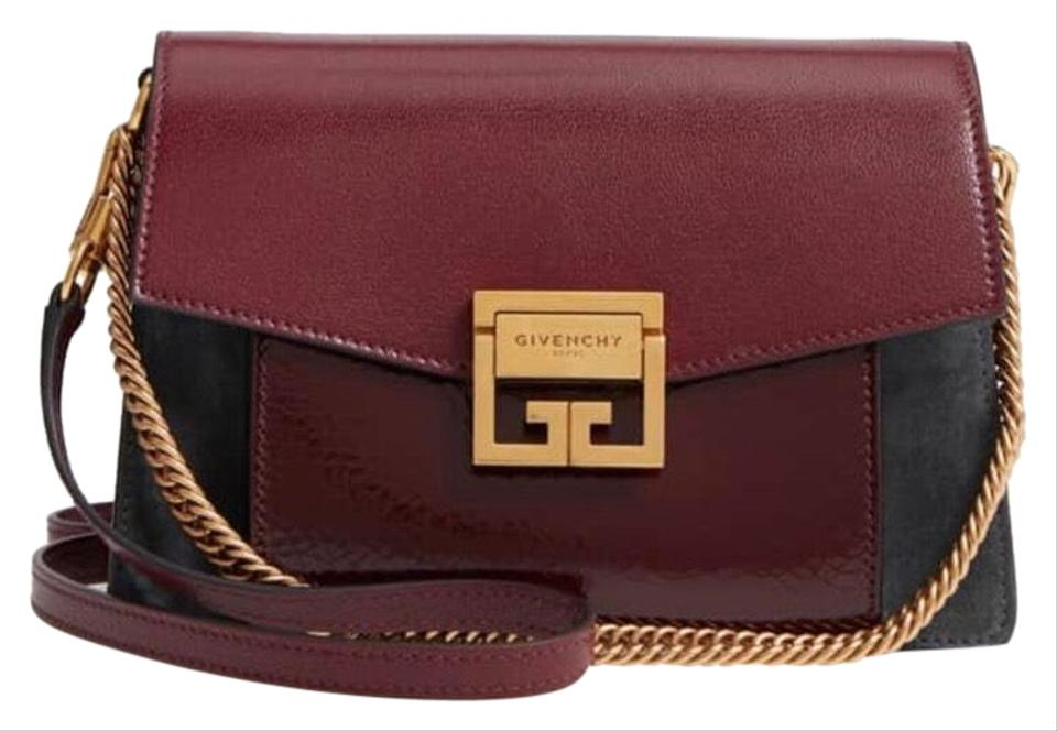 Givenchy Gv3 Aubergine and Charcoal Leather Cross Body Bag - Tradesy ba3fd620106f9